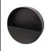 Dome Deco Wandpflanzgefäß aus schwarzem Metall - rund - S.