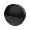 Dome Deco Wall planter in black metal - round - M