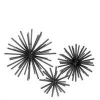 Decoratie object 'Meteor' set van 3 - Black