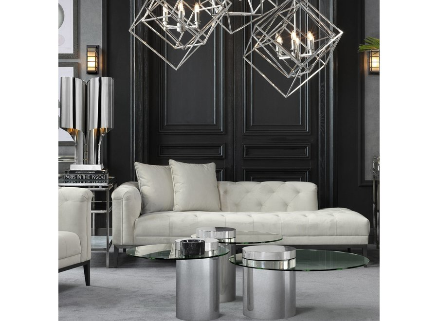 Lounge Sofa 'Cesare' Left Pebble Grey