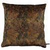 CLAUDI Cushion Dashing Leaves Ice Black + Rust