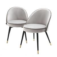 Dining chair 'Cooper' set of 2 - Light grey