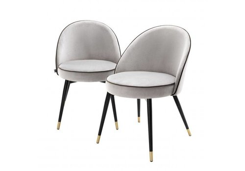 EICHHOLTZ Dining chair Cooper set of 2 - Light grey