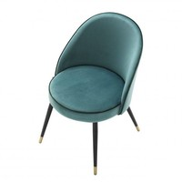 Dining chair 'Cooper' set of 2 - Turquoise