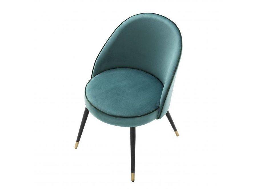 Eetkamerstoel 'Cooper' set van 2 - Turquoise