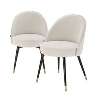 Dining chair 'Cooper' set of 2 - Cream