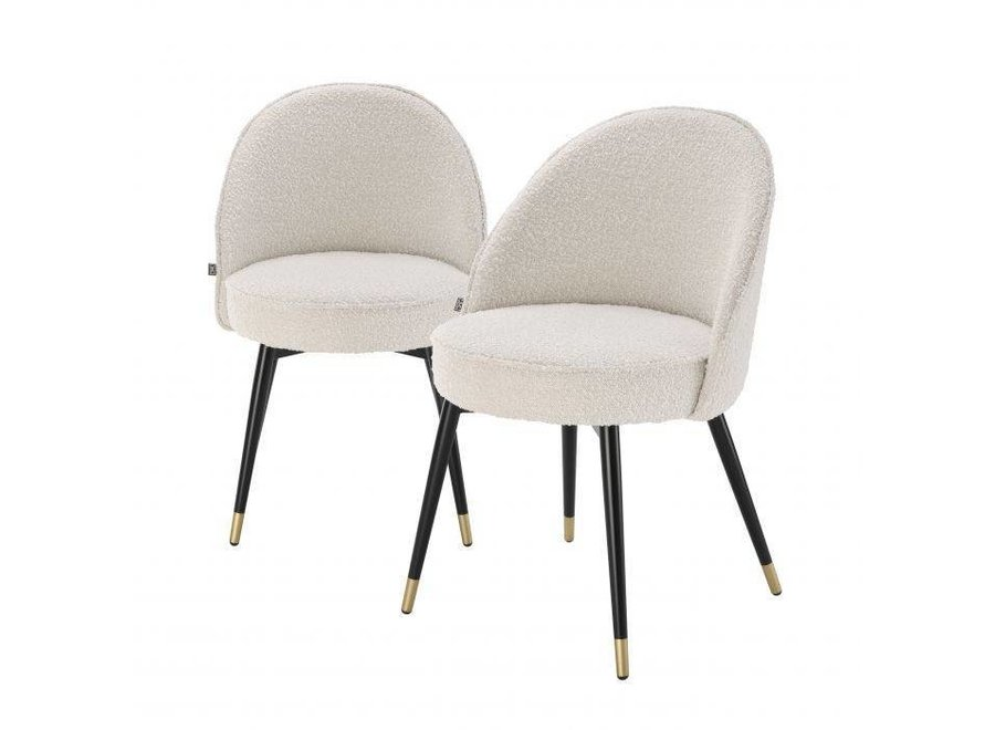 Eichholtz Dining Chair Cooper, Cream Coloured Dining Room Chairs