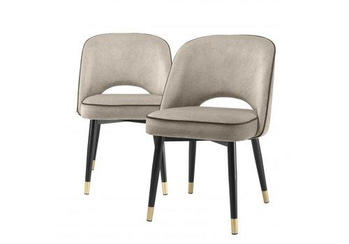 EICHHOLTZ Dining chair Cliff set of 2 - Savona greige