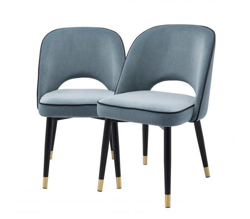 Esszimmerstuhl 'Cliff' 2er Set - Savona blue