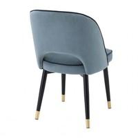 Dining chair 'Cliff' set of 2 - Savona blue