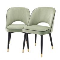 Esszimmerstuhl 'Cliff' 2er Set - Savona pistache green