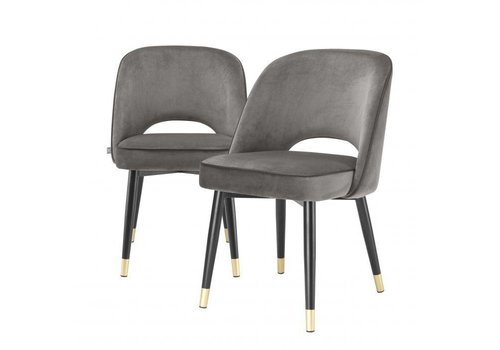 EICHHOLTZ Dining chair Cliff set of 2 - Savona grey
