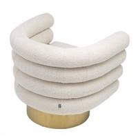 Swivel armchair 'Maguire' - Bouclé cream