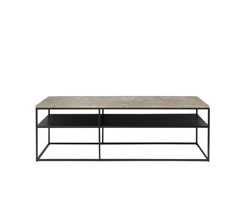Console table 'Geneva' - Travertine
