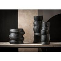 Glass vase 'Black' S