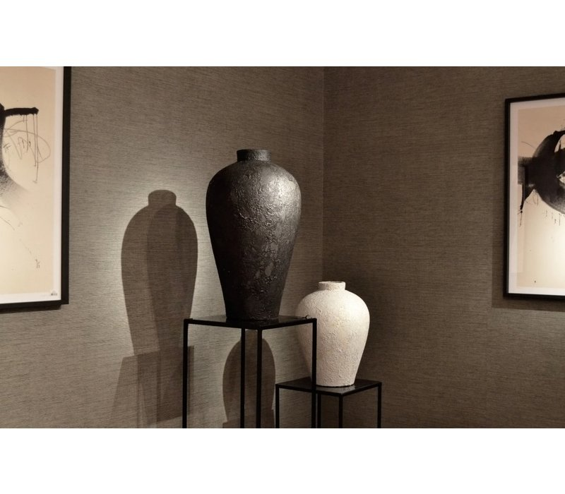 Terracotta vase 'White' - S