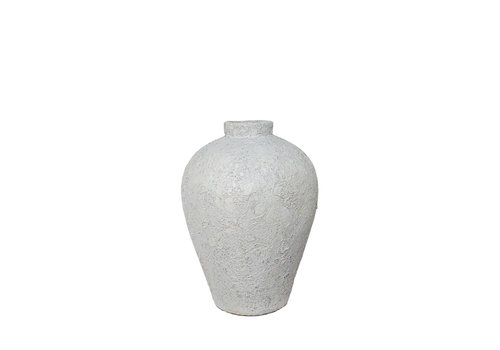 Dome Deco Terracotta vaas 'White' - S