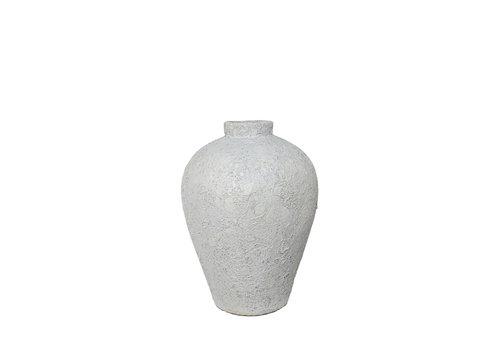 Dome Deco Terrakotta-Vase 'Weiß' - S
