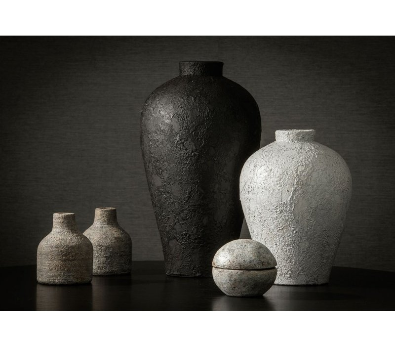 Terrakotta-Vase 'Weiß' - S