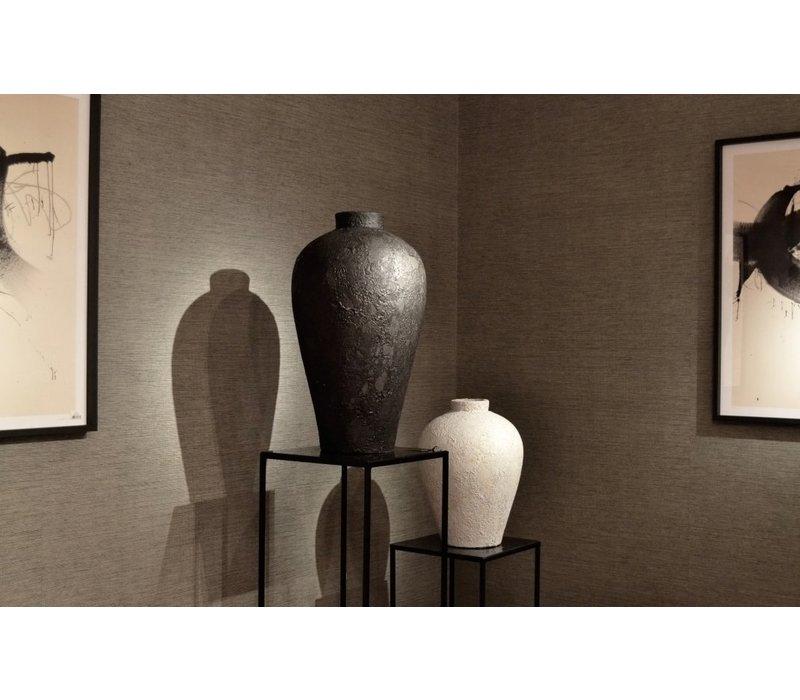 Terracotta vase 'Black' - M