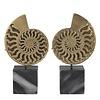 EICHHOLTZ Decoratie object 'Ammonite' set van 2