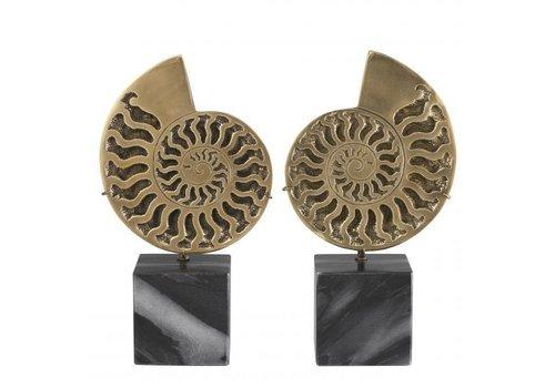 EICHHOLTZ Decoratie object Ammonite set van 2