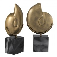 Decoration object 'Ammonite' set of 2