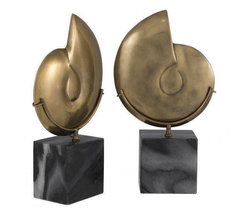 Dekorationsobjekt 'Ammonite' 2er-Set