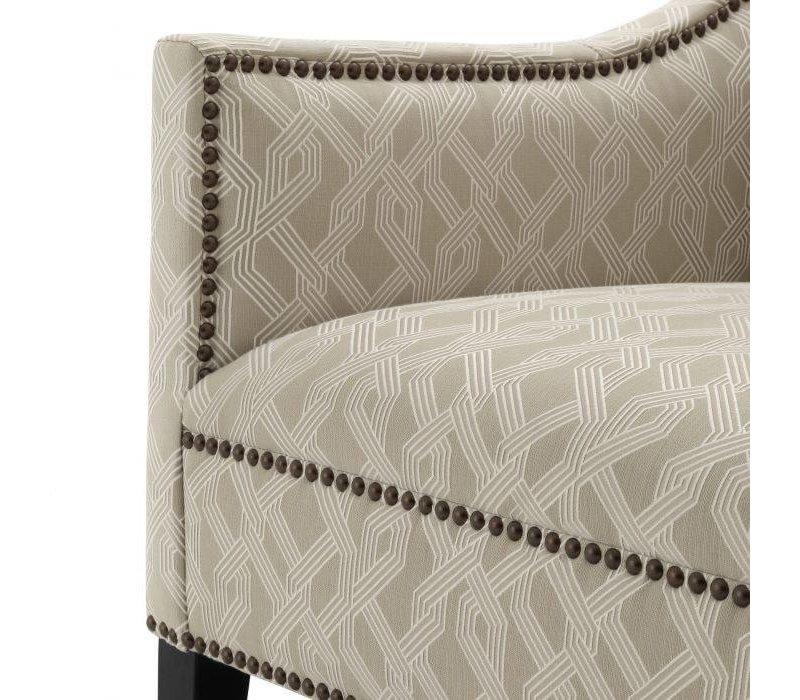 Armchair 'Jenner' - Lattice grey