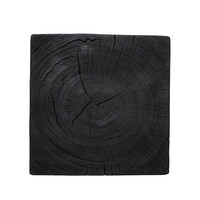 Vierkante bijzettafel 'wood' Black