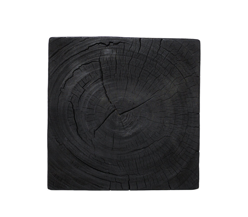 Square side table 'wood' Black