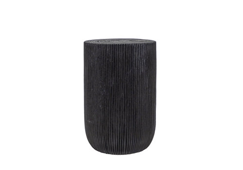Dome Deco Round side table 'wood' Black