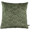 CLAUDI Throw pillow Feather Fan Ice Olive