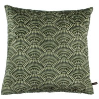 Throw pillow Feather Fan Ice Olive