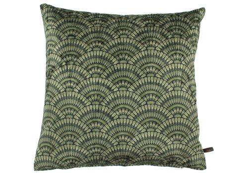 CLAUDI Cushion Feather Fan Ice Olive