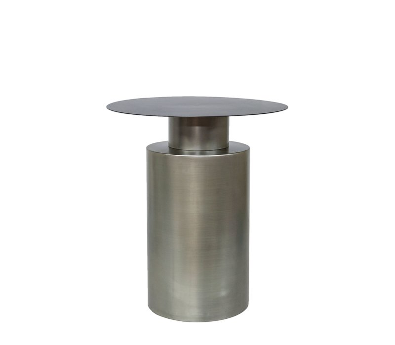 Round side table 'zinc' - Grey