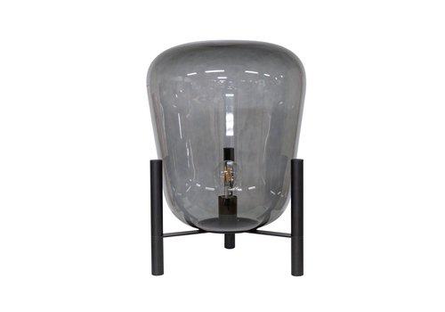 Dome Deco Tischlampe Glas mit Metallsockel
