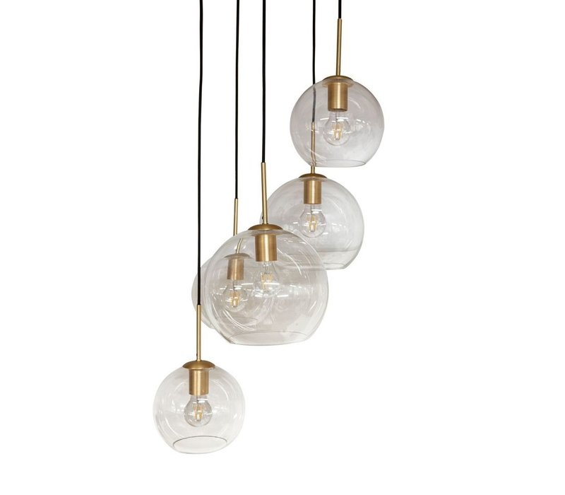 Hängelampe 'Pendant with 5 bulb + LED'