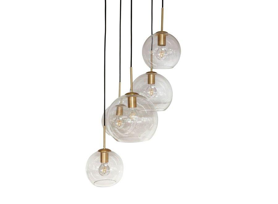 Hanglamp 'Pendant with 5 bulbs + LED'