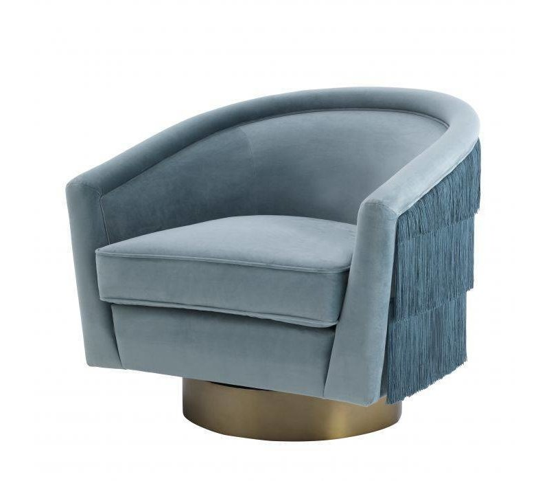 Swivel armchair 'Le Vante' - Blue