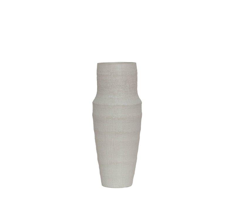Keramikvase 'Weiß' - S
