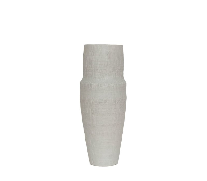 Keramikvase 'Weiß' - M