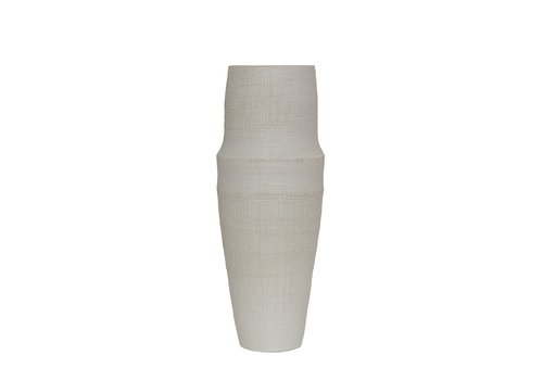 Dome Deco Ceramische vaas 'White' - L