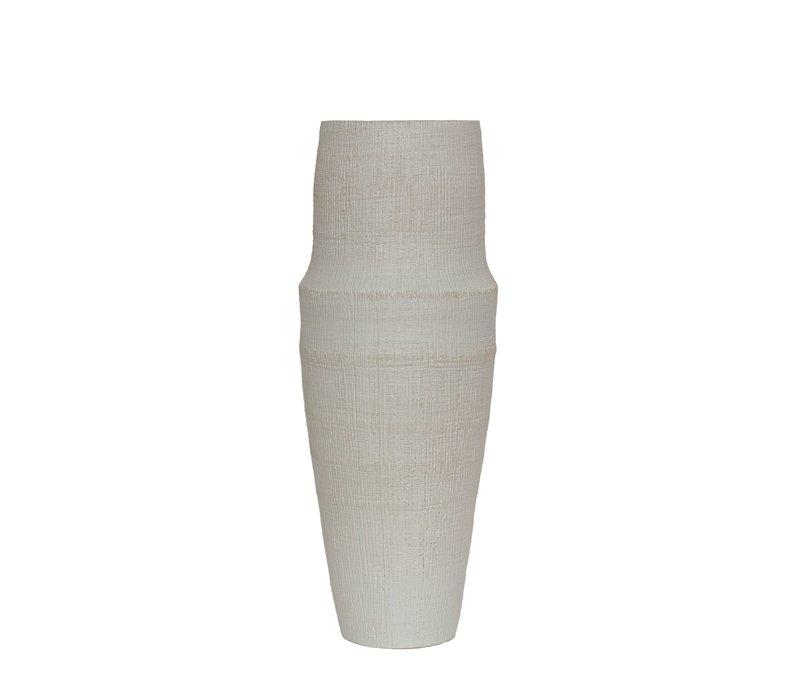 Ceramic vase 'White' - L