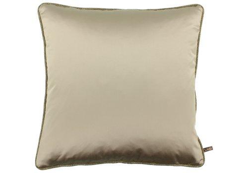 CLAUDI Cushion Dafne Dark Sand + Piping Diamante Gold