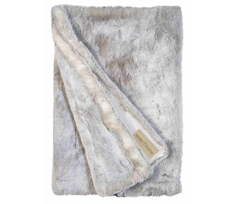 Bontplaid 'Silverwolf' in 140 x 200cm