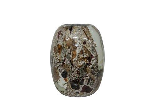 Dome Deco Glass vase 'Multicolor' - M