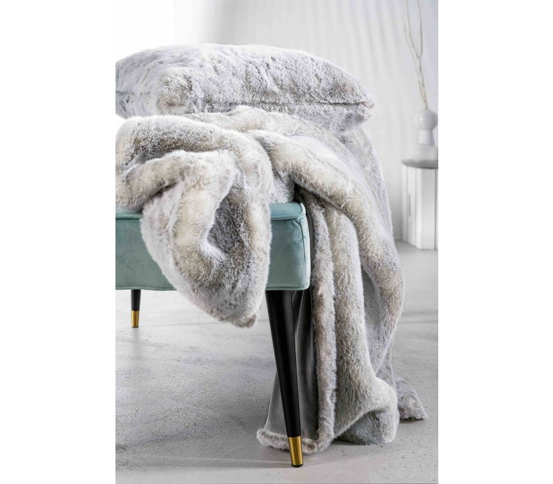 Cushion faux fur 'Silverwolf'