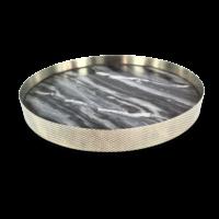 Dienblad 'Orbit' gerookt Marmer - Large