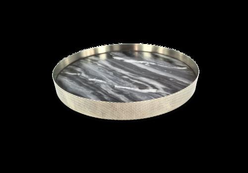 Mr. Pinchy & Co Tablett 'Orbit' geräucherter Marmor - groß